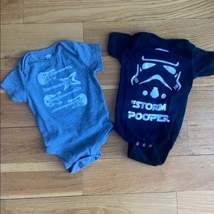 Two cool onesies!